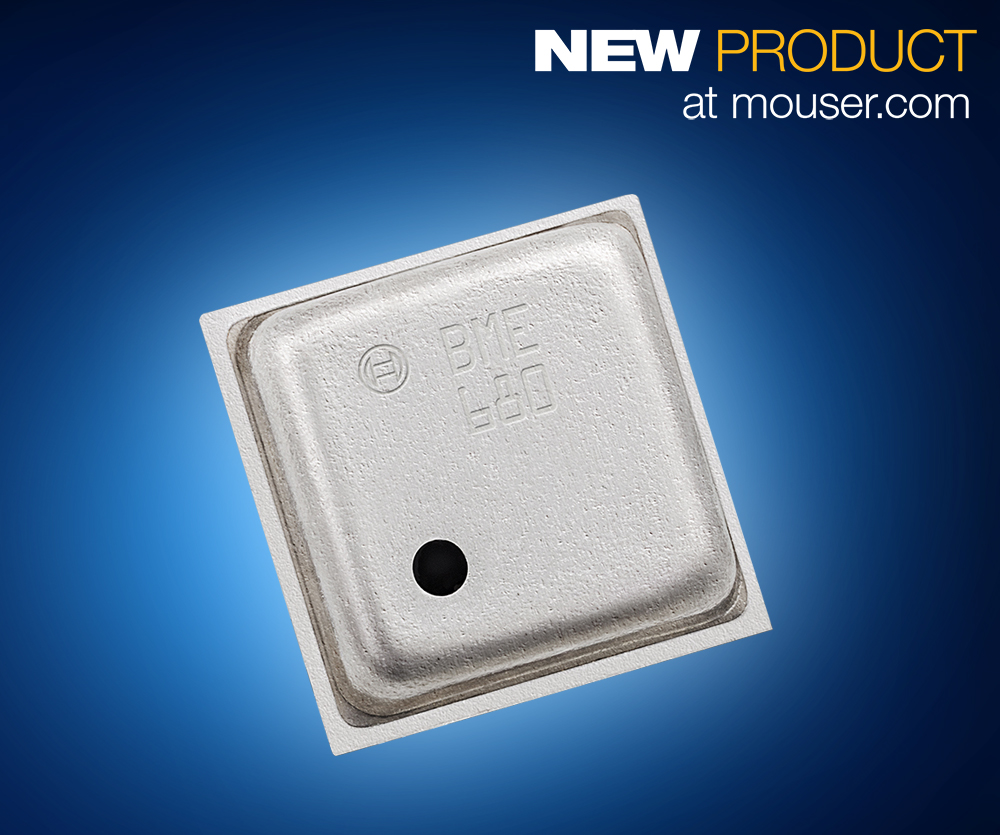 Mouser Electronics Now Offering Bosch Sensortec's  BMG680 Combo MEMS Environmental Sensor