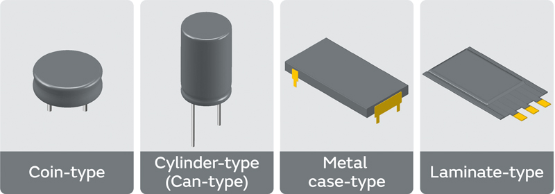 Figure 2. Supercapacitor packages