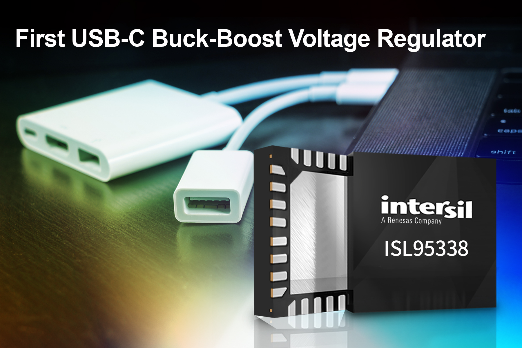 Single-chip ISL95338 Replaces two Converters, Enables USB PD3.0 Bidirectional Voltage Regulation