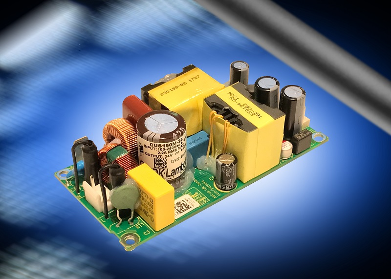Fan-less class I or II medical and industrial power supplies operate in temperatures up to 80°C