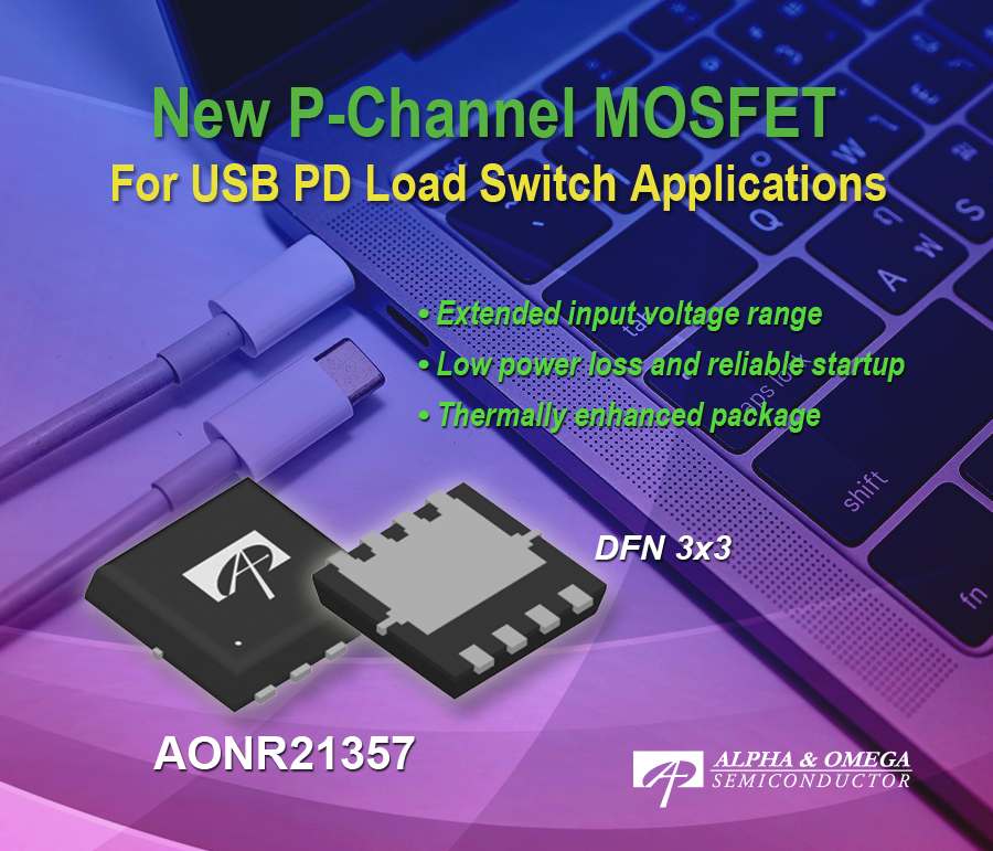 P-Channel MOSFET Features Extended Input Voltage Range