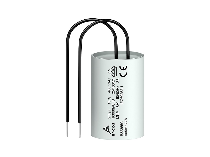 Film capacitors: Motor run capacitors for 100 °C