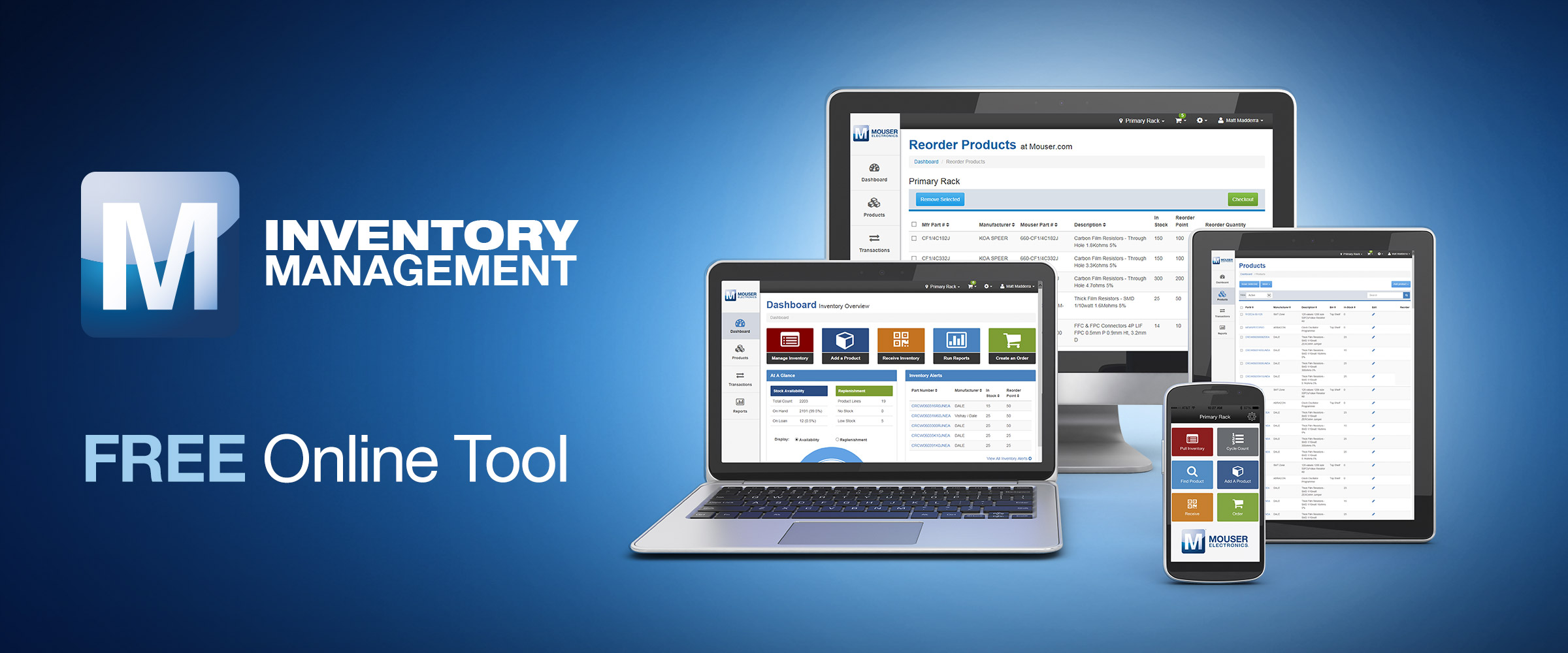 Mouser Electronics Launches Free Inventory Management App