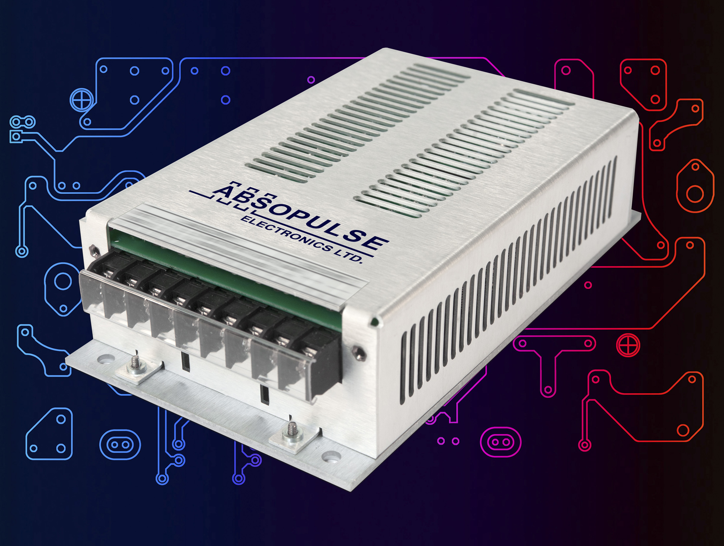100VA DC-AC Sine Wave Inverters Offer Three Input Voltages and a Wide Input Range
