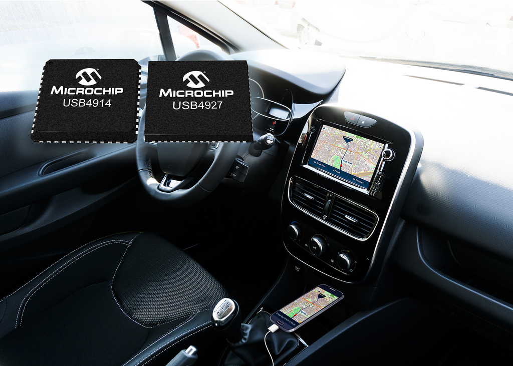USB Smart Hub ICs Enable Smartphone-Connected Automotive Infotainment