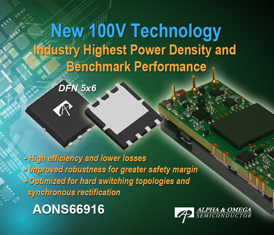 Shield Gate Technology Generation 2 100V 3.6mOhm MOSFET Designed for High-Density Power Supply Solutions