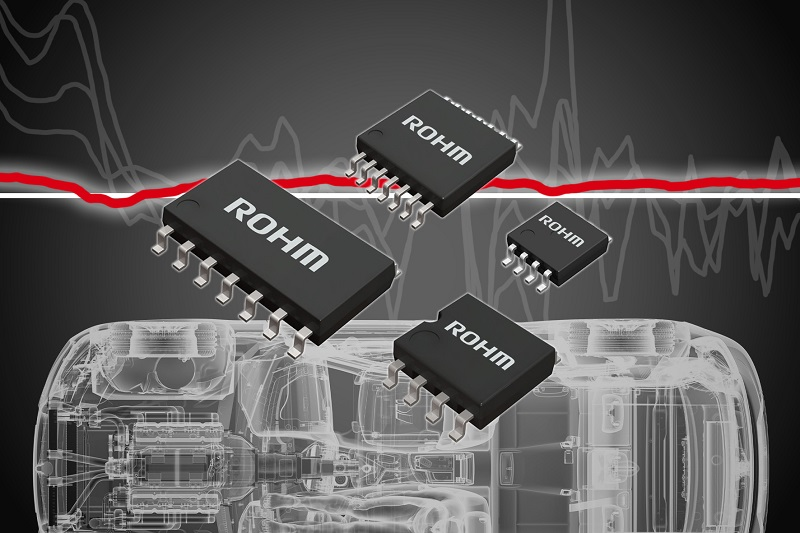 ROHM announces the world's first noise-tolerant op-amps