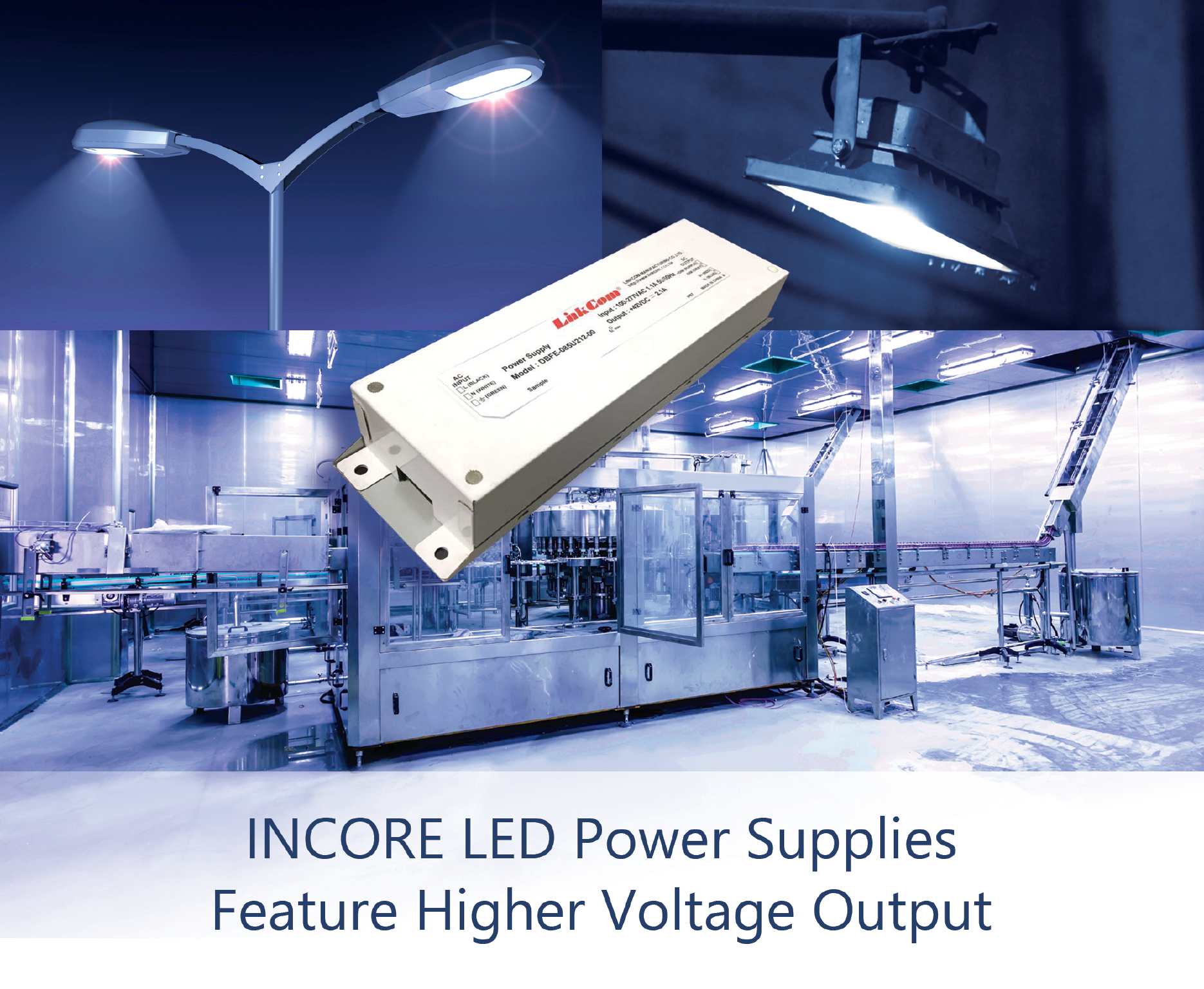 LED Power Supplies Deliver Constant Current at Output Voltage Levels Required for High-Lumen-Output Applications