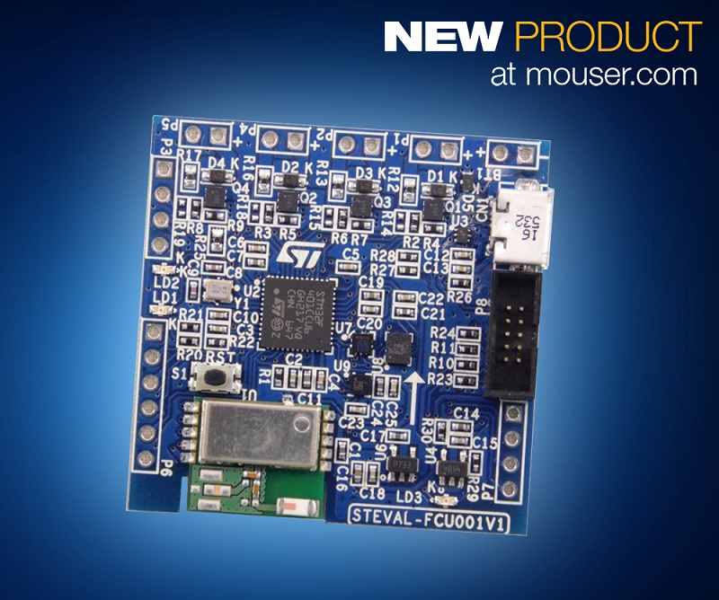 Build Drone Flight-Control Designs with STMicroelectronics' FCU Eval Board, Now at Mouser