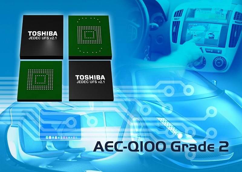 Toshiba Memory Europe Announces UFS 2.1-Compliant Embedded NAND Flash for Automotive Applications