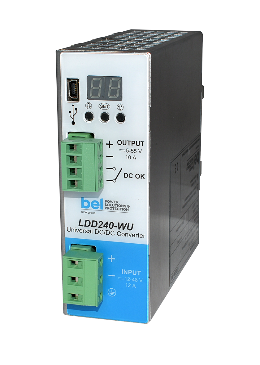 DIN Rail DC-DC Converter Ideally Suited for Flexible, Compact, and High-Reliability Applications