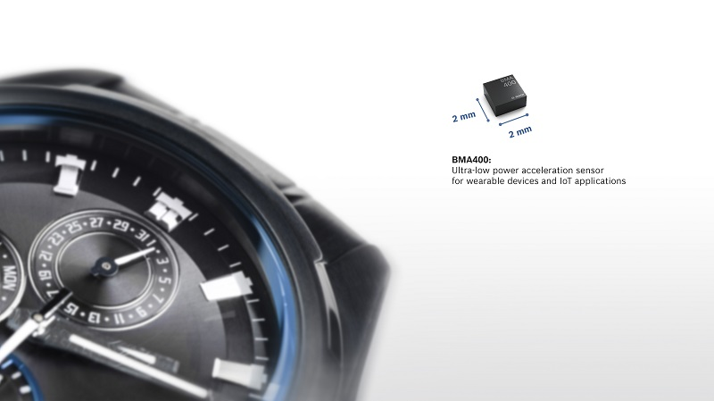 Bosch launches BMA400 ultra-low power accelerometer for wearables and IoT applications