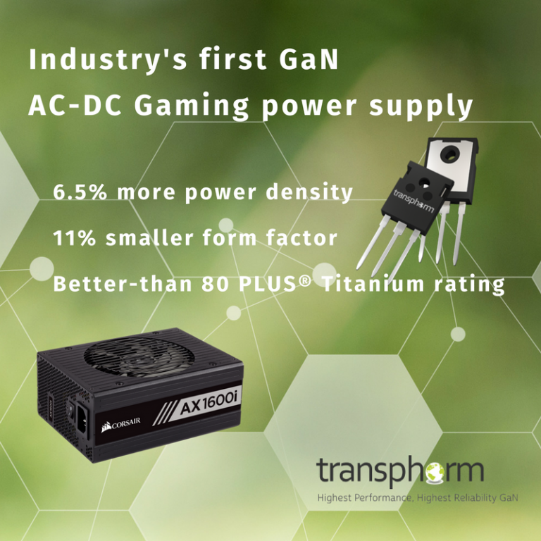 Transphorm GaN Moves into PC Gaming Market with CORSAIR