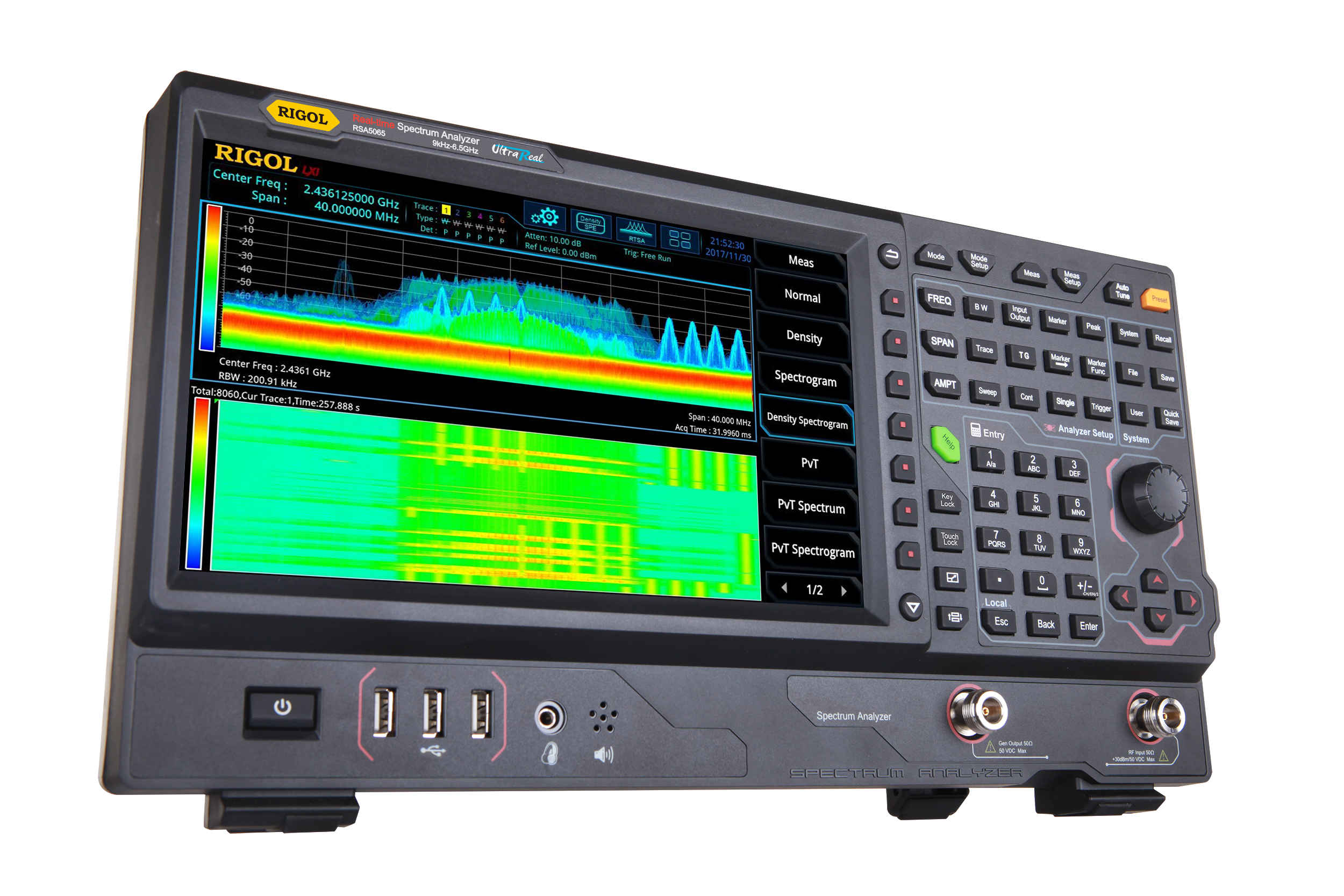 Real-Time Spectrum Analyzer Provide Resolution Bandwidth Down to 1Hz