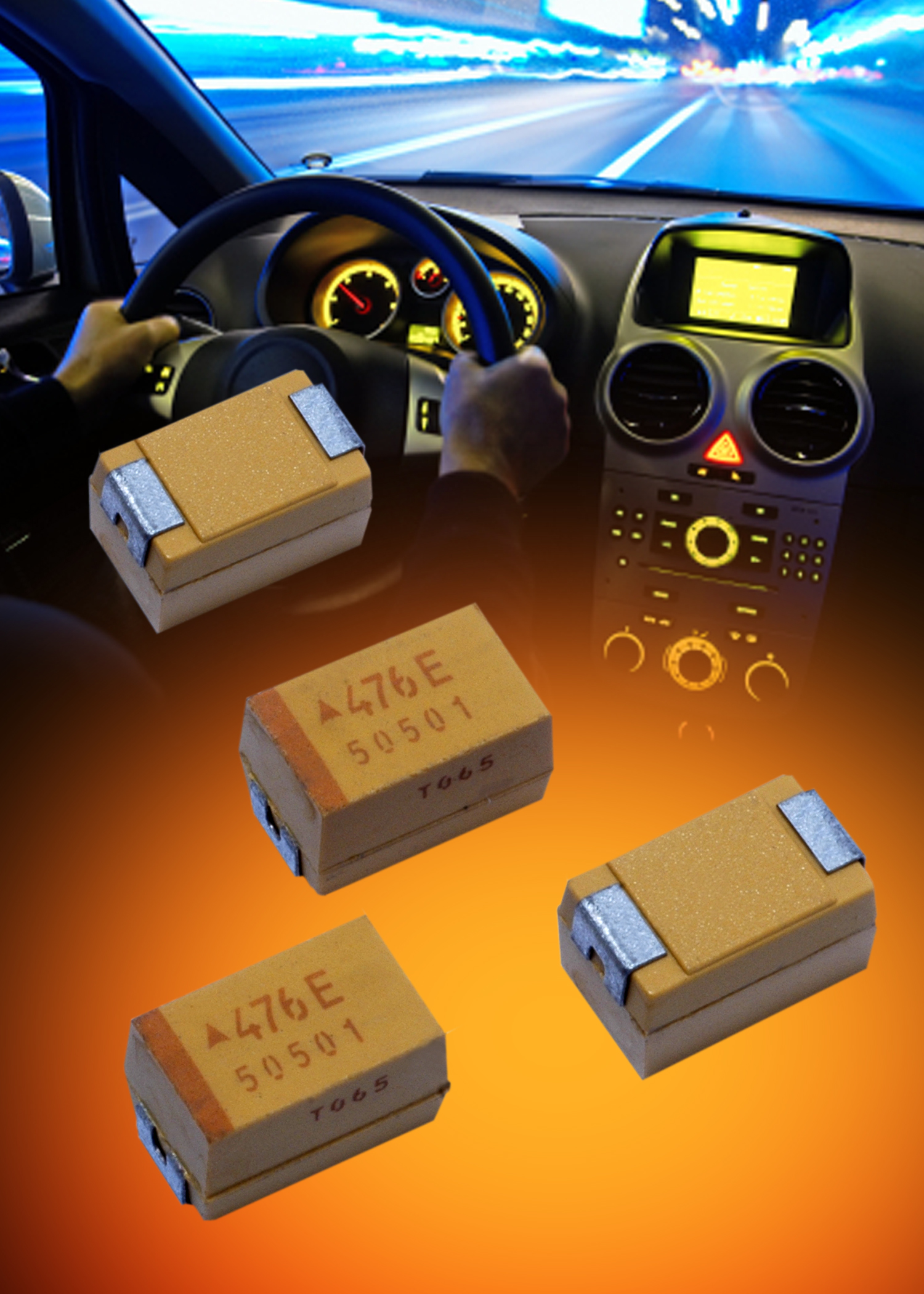 AVX Adds New Case Size & Codes to its Automotive-Grade Ultralow-ESR Tantalum Capacitors