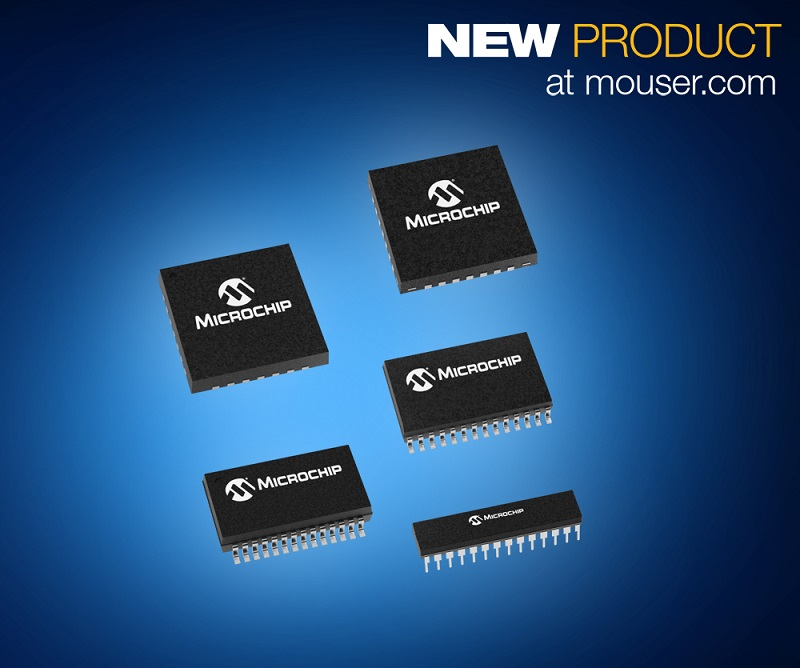 Mouser Now Stocking Microchip PIC18 K83 MCUs with CAN and Core Independent Peripherals for Improved Response Time