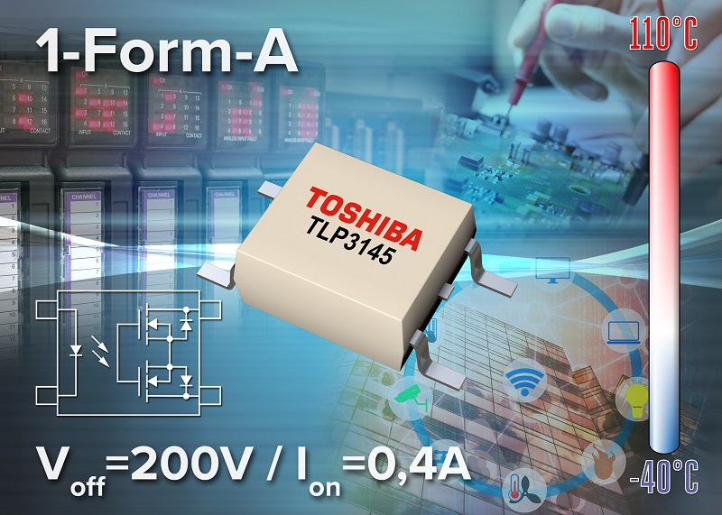 Toshiba releases medium voltage, high current photorelay in small package