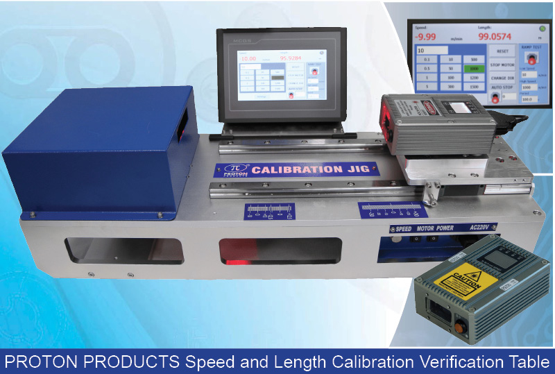 Portable Speed & Length Calibration Verification Table Includes run Length of at Least 10,000 m
