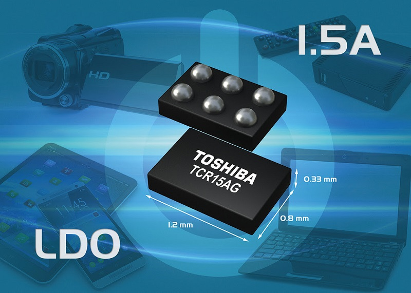 Toshiba launches 1.5A LDO regulators in ultra-small package