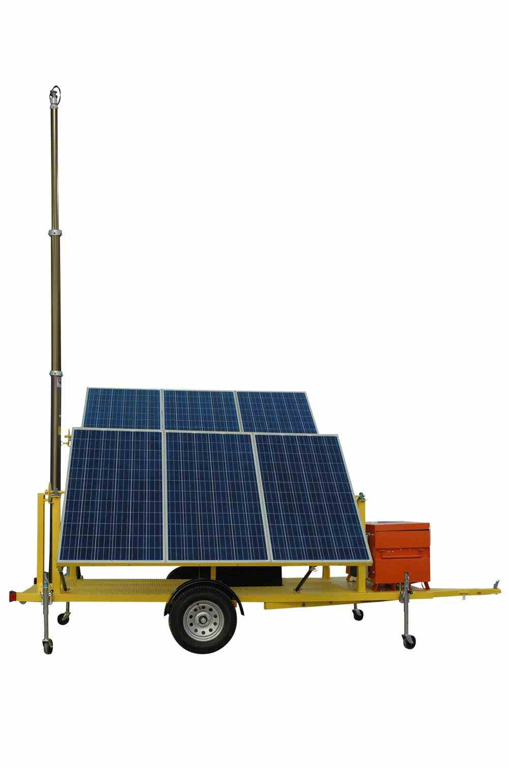 30' Trailer-Mounted, Solar-Powered Generator Features Pneumatic Tower Mast