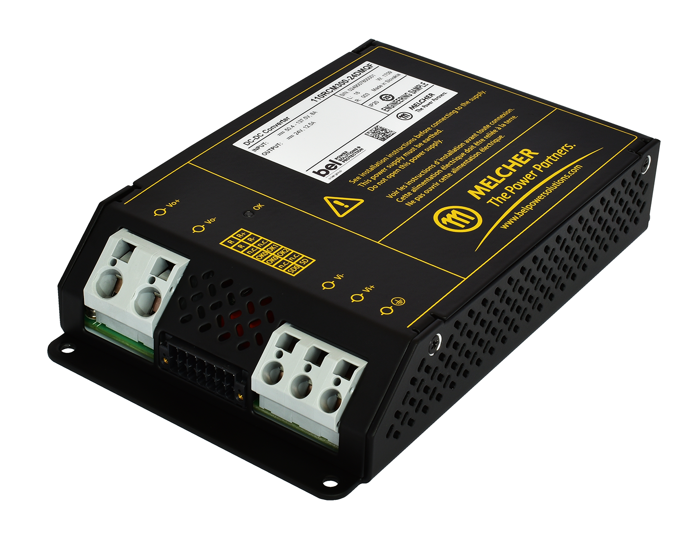 Chassis-Mount 150 W and 300 W DC-DC Converters Intended for Railway Applications