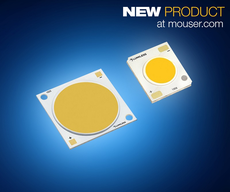 Lumileds Latest LUXEON CoB Core Range LEDs, Now at Mouser, Offer High Density in a Small Surface
