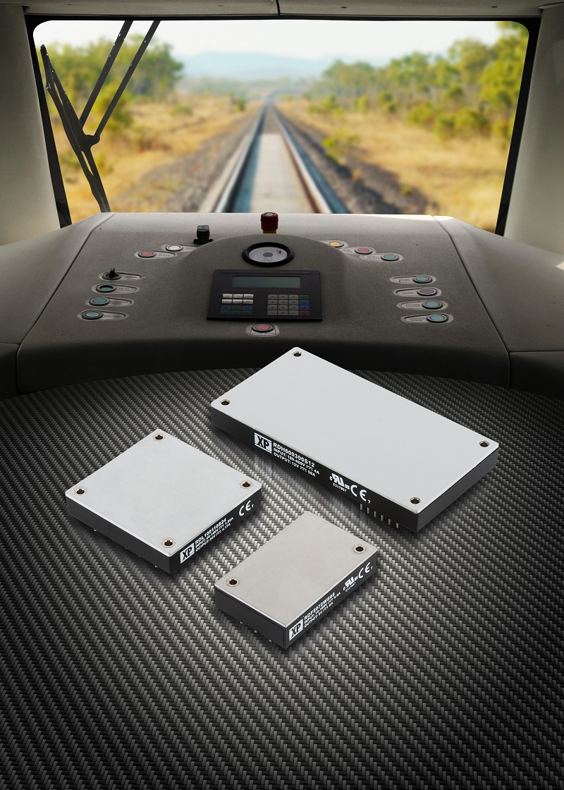 Robust high efficiency 50W to 600W DC-DC converters for railway applications