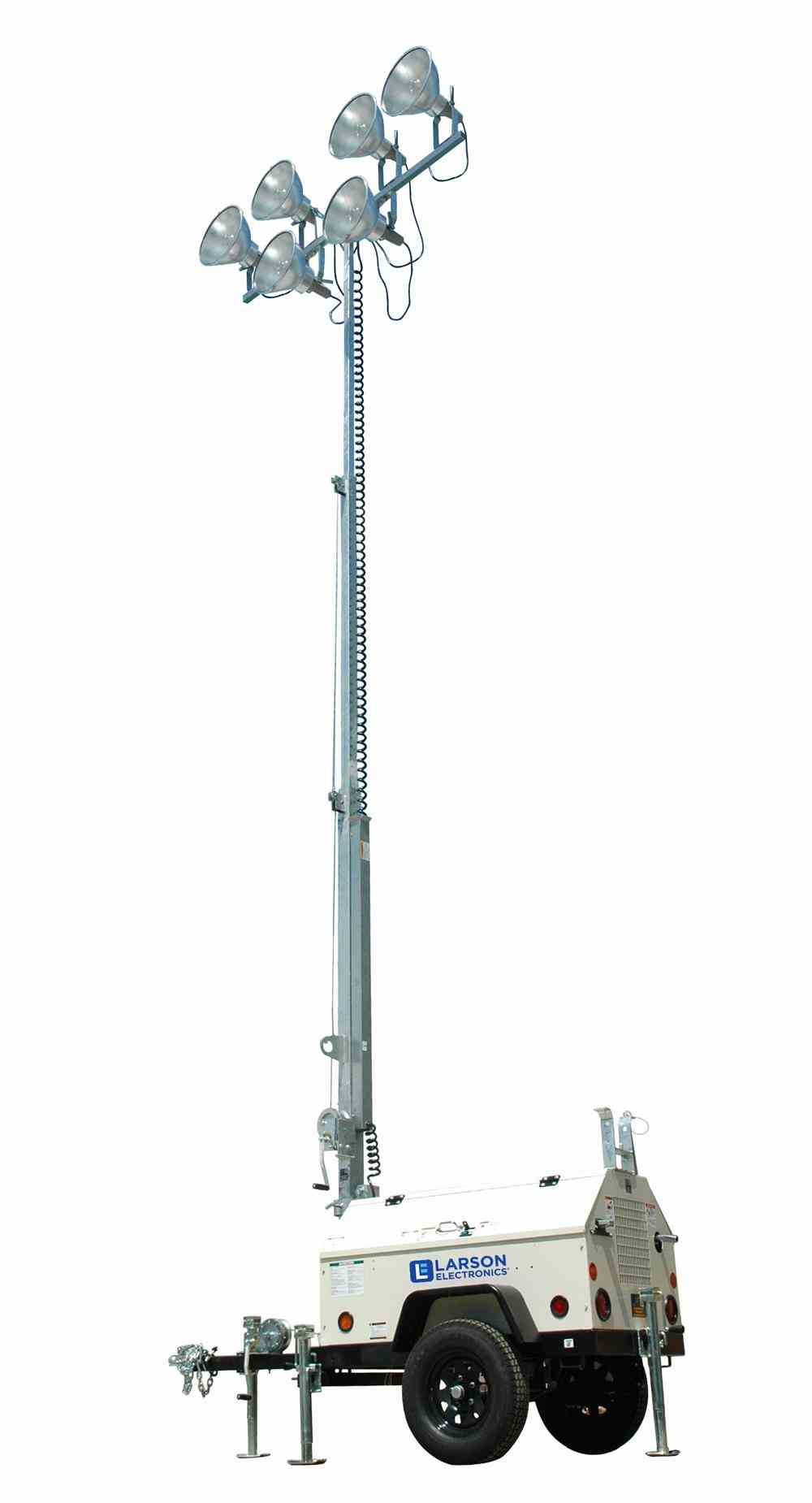 Water-Cooled Diesel Engine Metal Halide Light Tower Can Illuminate 8-9 Acres For More Than 19 Hours