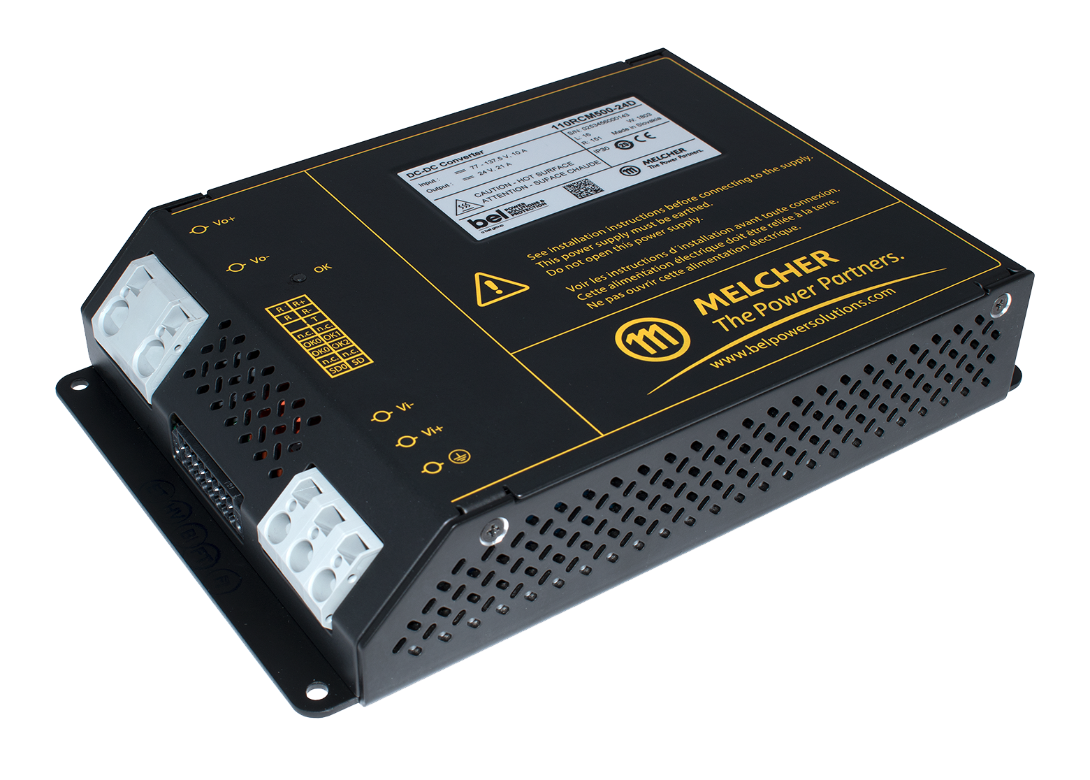Chassis-Mount 500 W and 1000 W DC-DC Converters Designed for Railway Applications