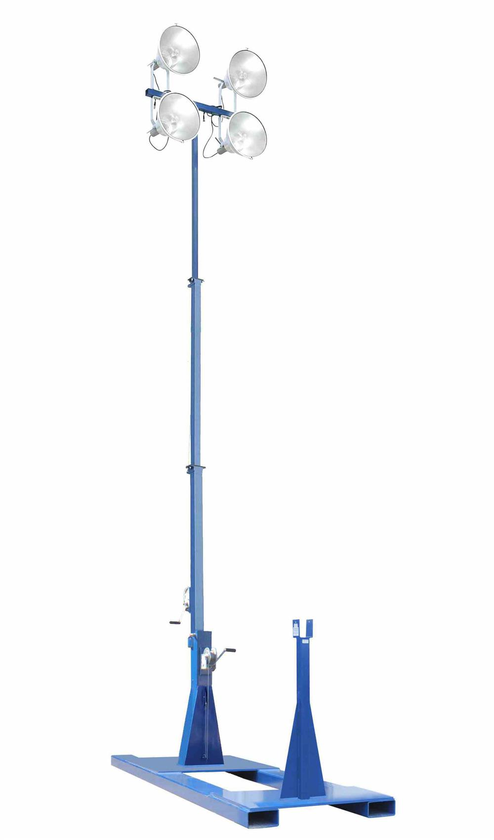4000W Skid-Mounted Fold Over Light Mast Helps Monitor Secure Locations From an Elevated Position