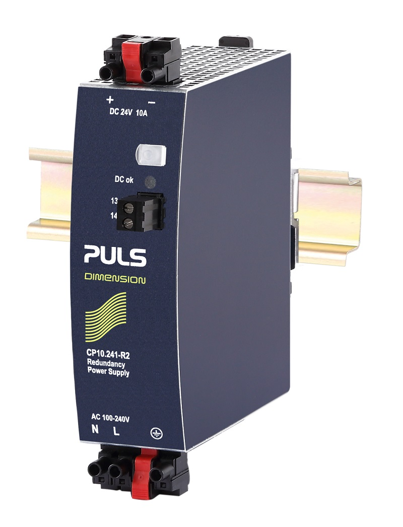 PULS 240W and 480W DIN-Rail Power Supplies available with Internal Decoupling and Hot-Swap Connections