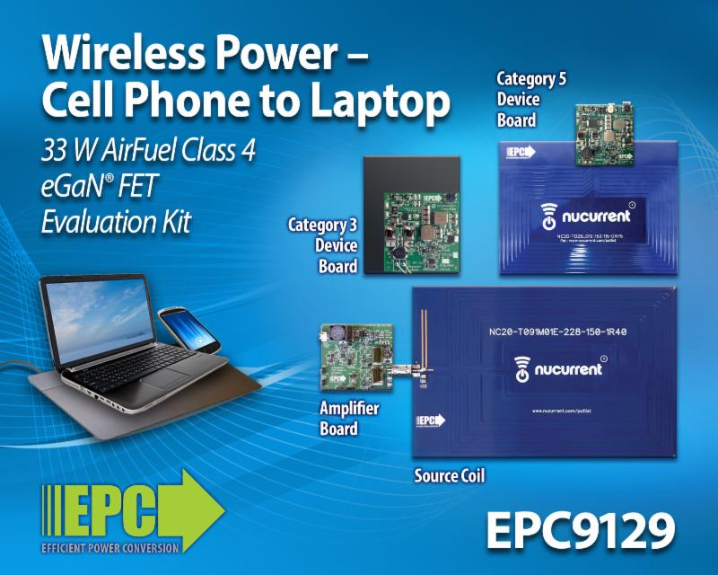 Wireless Power Demonstration Kit Capable of Receiving up to 27 W at 19 V