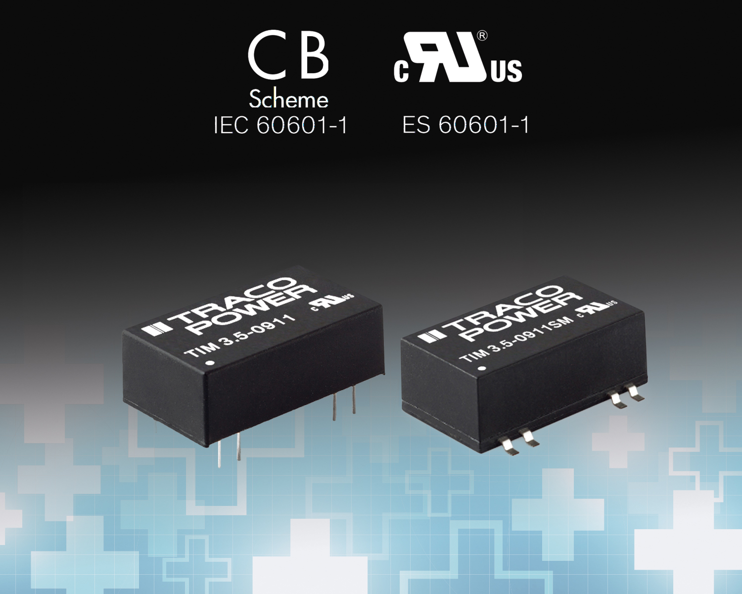 3.5 Watt Medical DC-DC Converters Feature Compact DIP or SMD Package