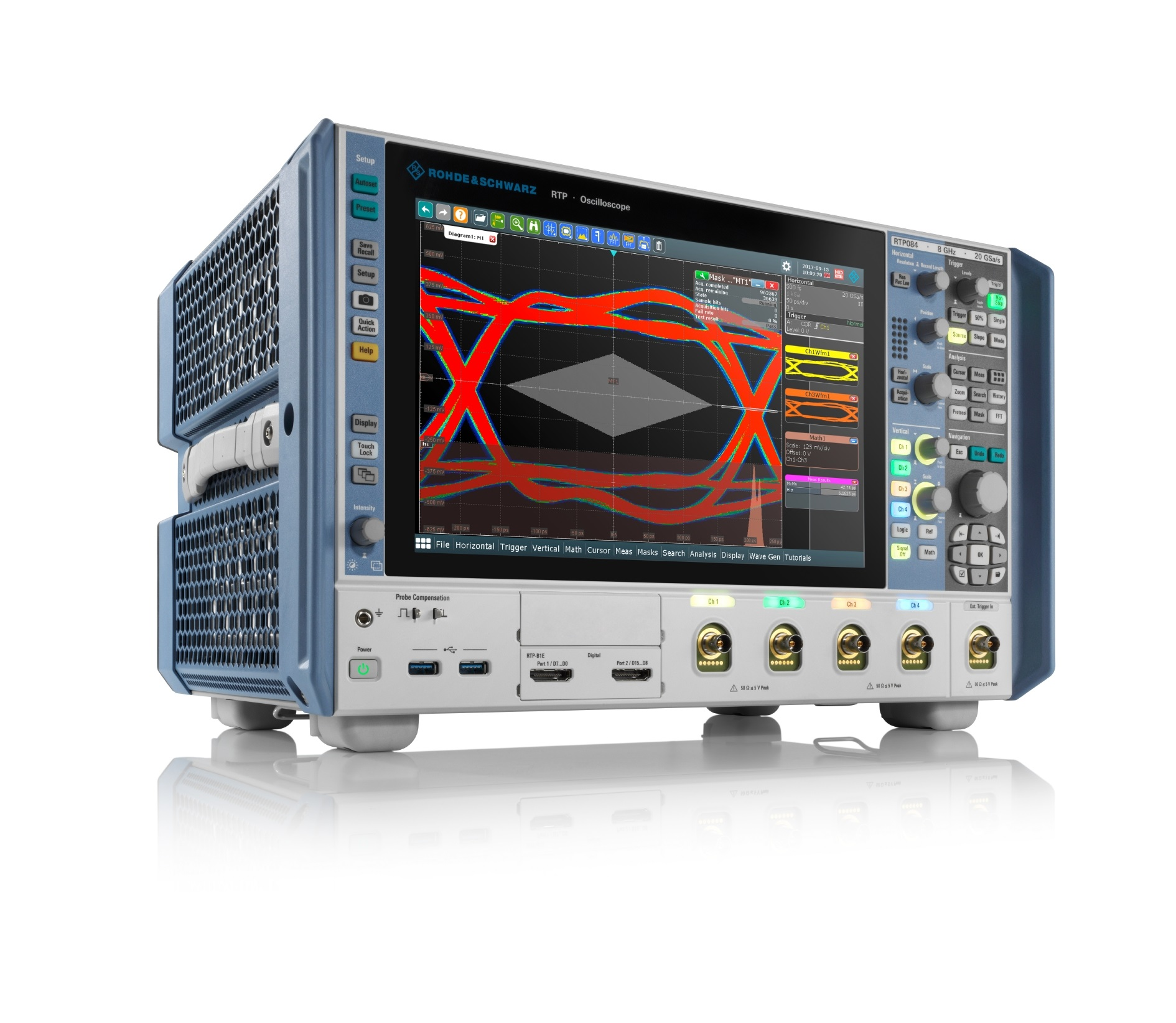New high-performance oscilloscope from Rohde & Schwarz: innovative signal integrity, measurement speed and range of functions