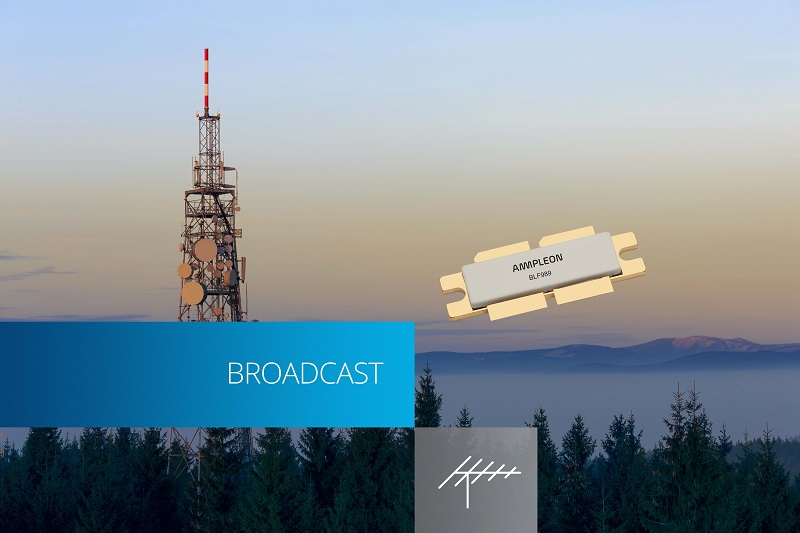 Ampleon launches first Gen9HV LDMOS 140 Watt RF PA transistor for UHF broadcast applications