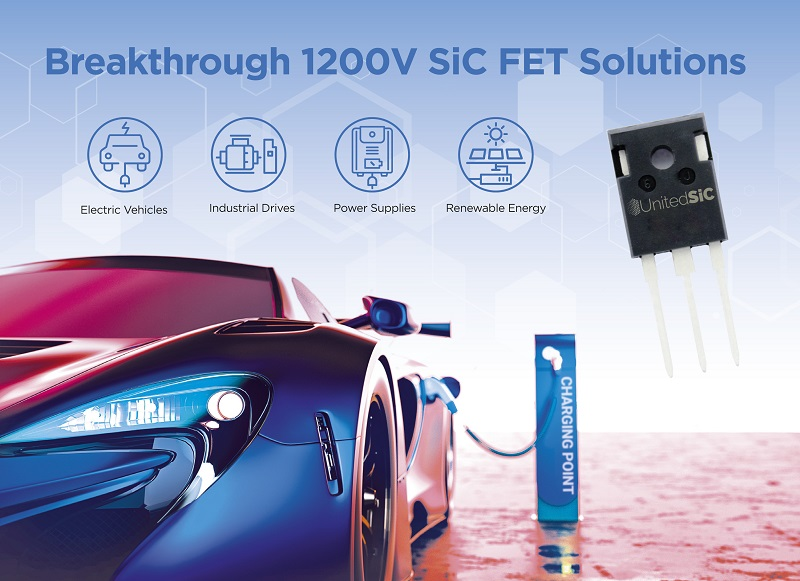 UnitedSiC's 1200 V Silicon Carbide FETs deliver industry's highest-performance upgrade path for IGBT, Si and SiC-MOSFET users