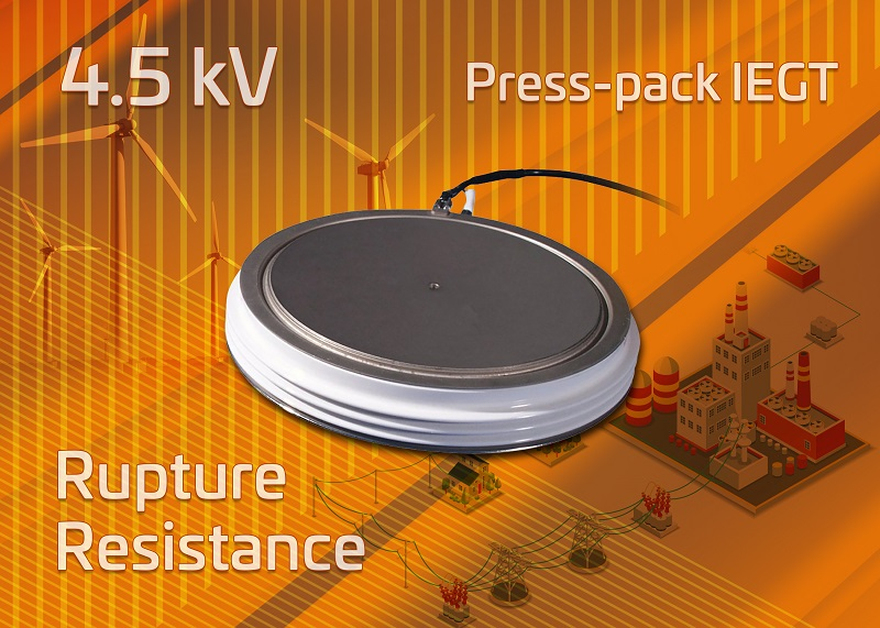 Toshiba develops 4.5 kV press-pack IEGT with improved rupture resistance