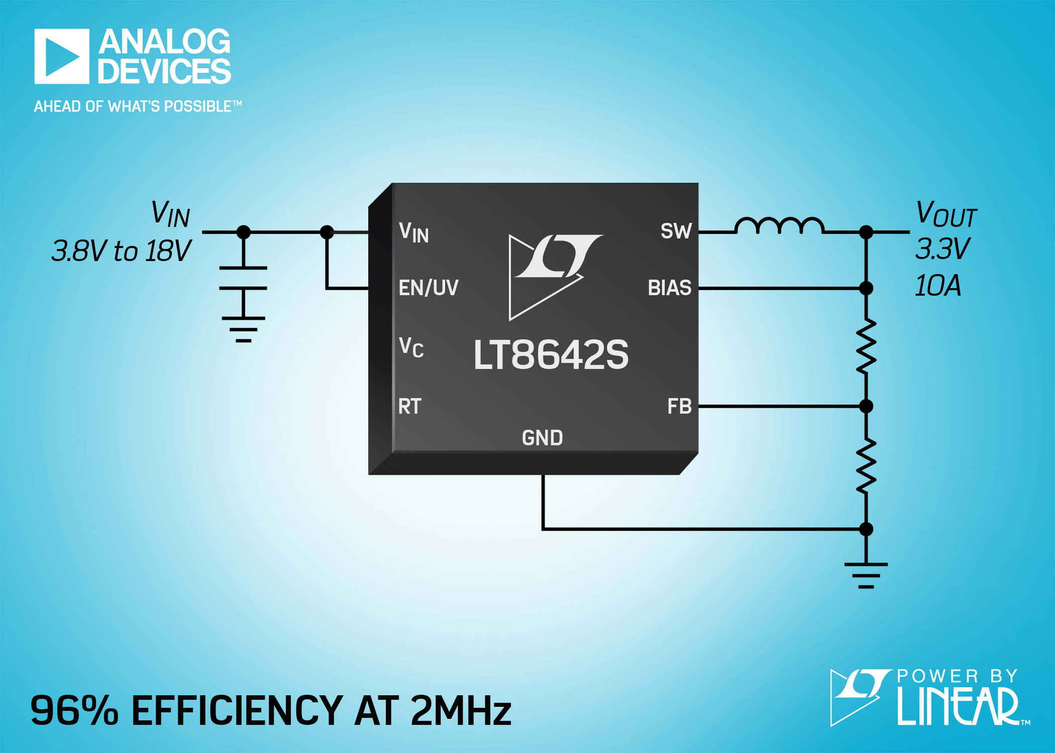 Synchronous Step-Down Silent Switcher 2 Delivers 95% Efficiency