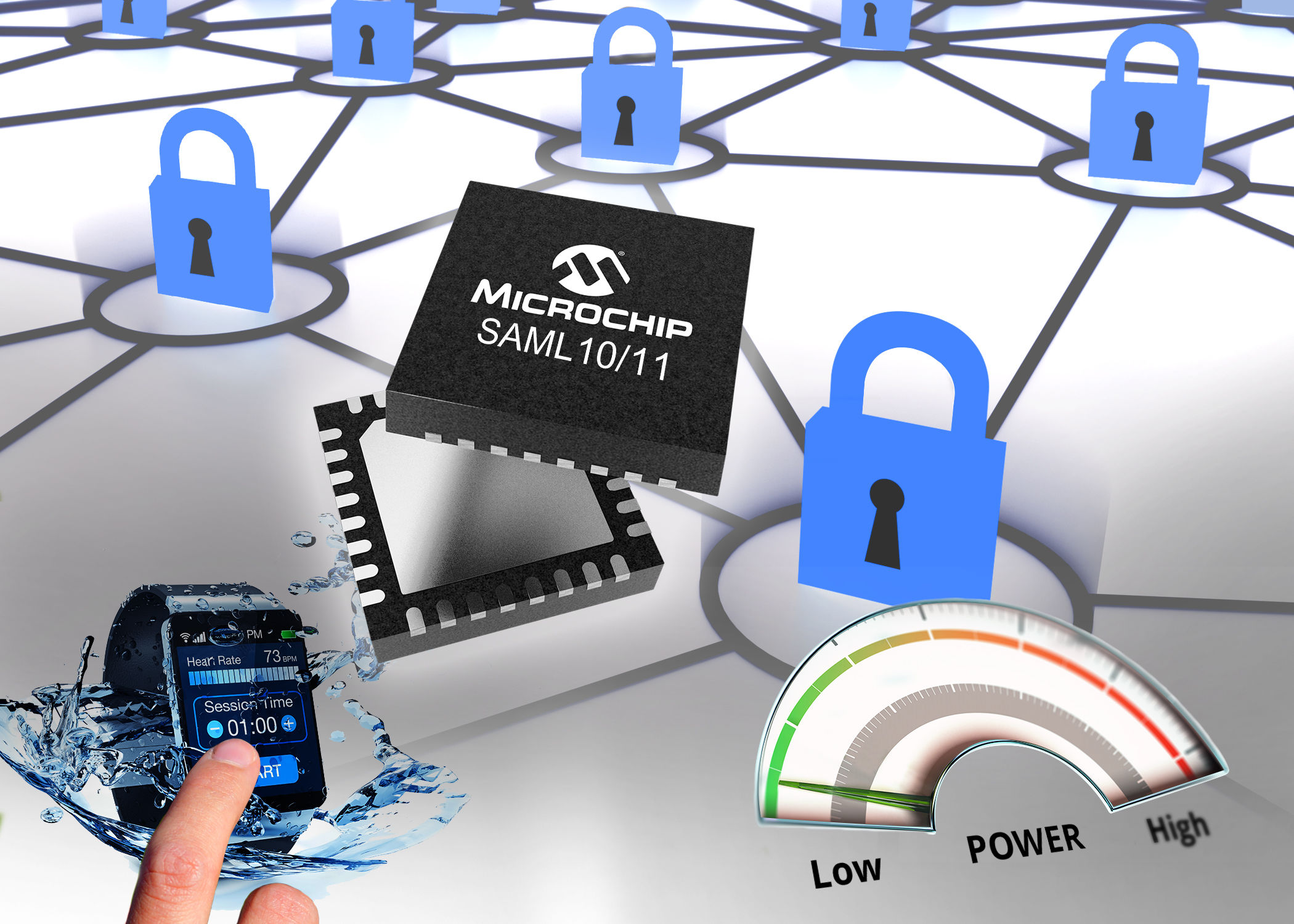 MCU Features Chip-Level Security and Arm TrustZone Technology