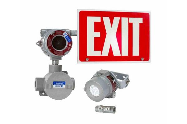 Explosion-Proof LED Exit Sign Features Remote Light Head