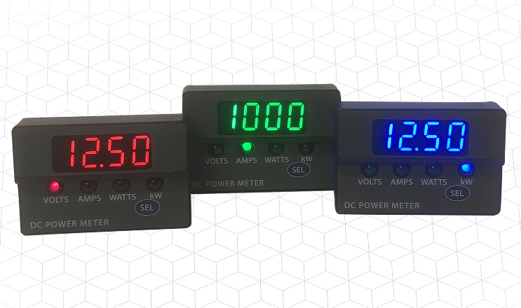 DC Panel Meters Calculate Power up to 96 kW