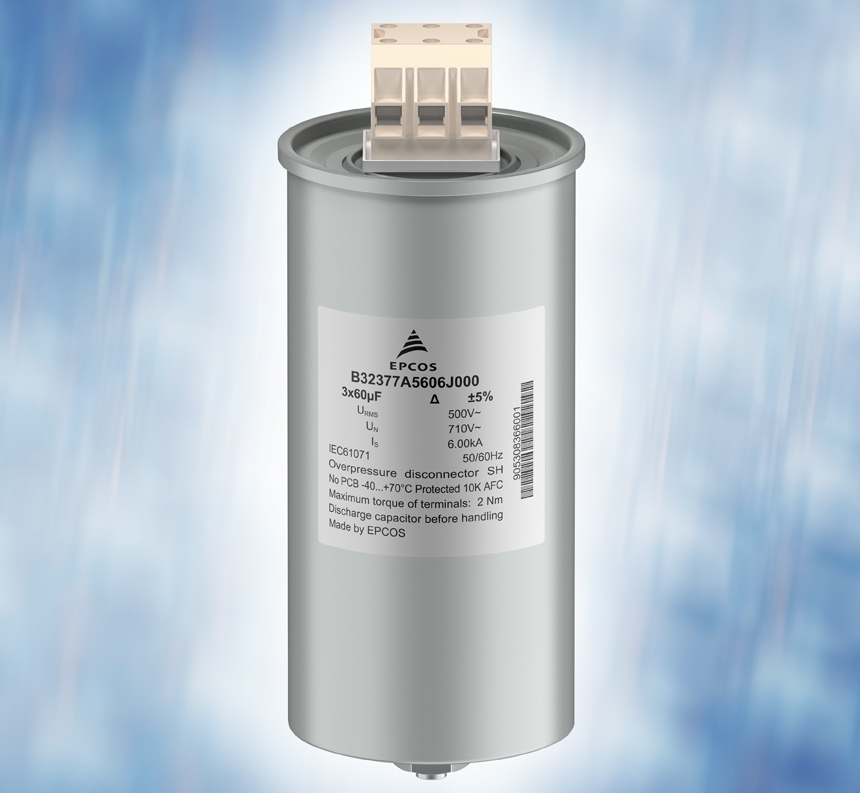 Filter Capacitors Cover Voltage Range From 250 to 850 Vrms