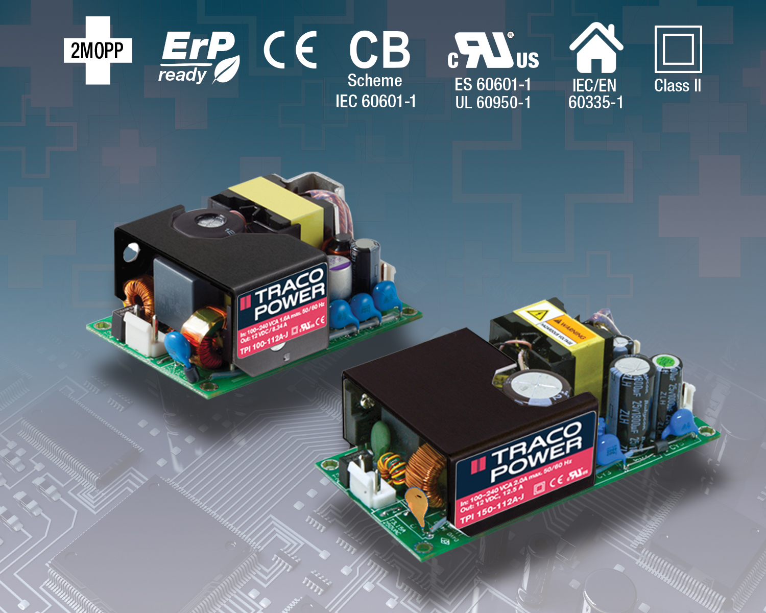 Rugged Power Supplies in Miniature Open-Frame Package