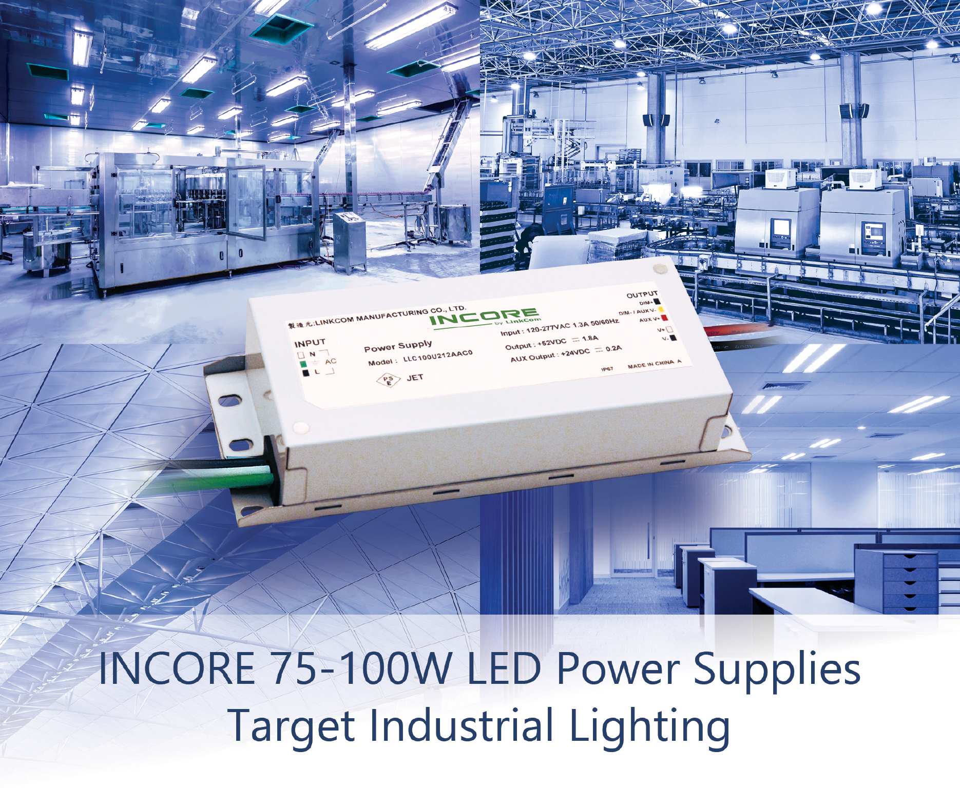 LED Power Supplies Target Demanding Industrial Lighting