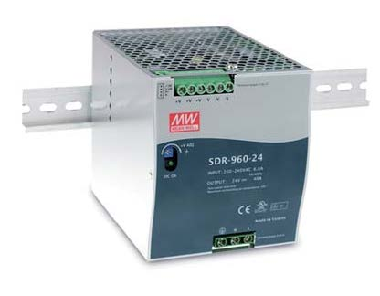 DIN Rail Power Supplies Features Operation From 90-264VAC