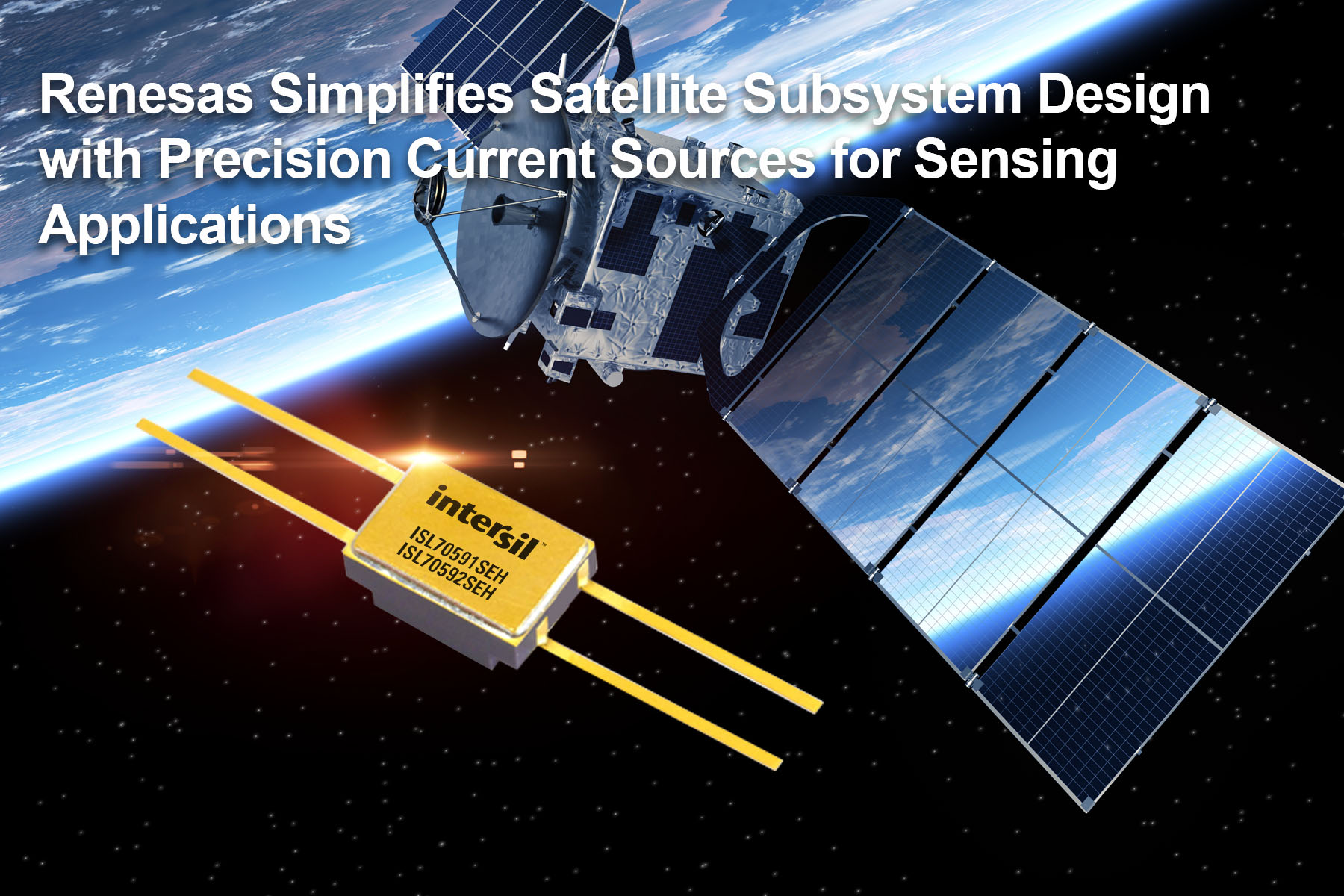 Renesas Electronics Simplifies Satellite Subsystem Design