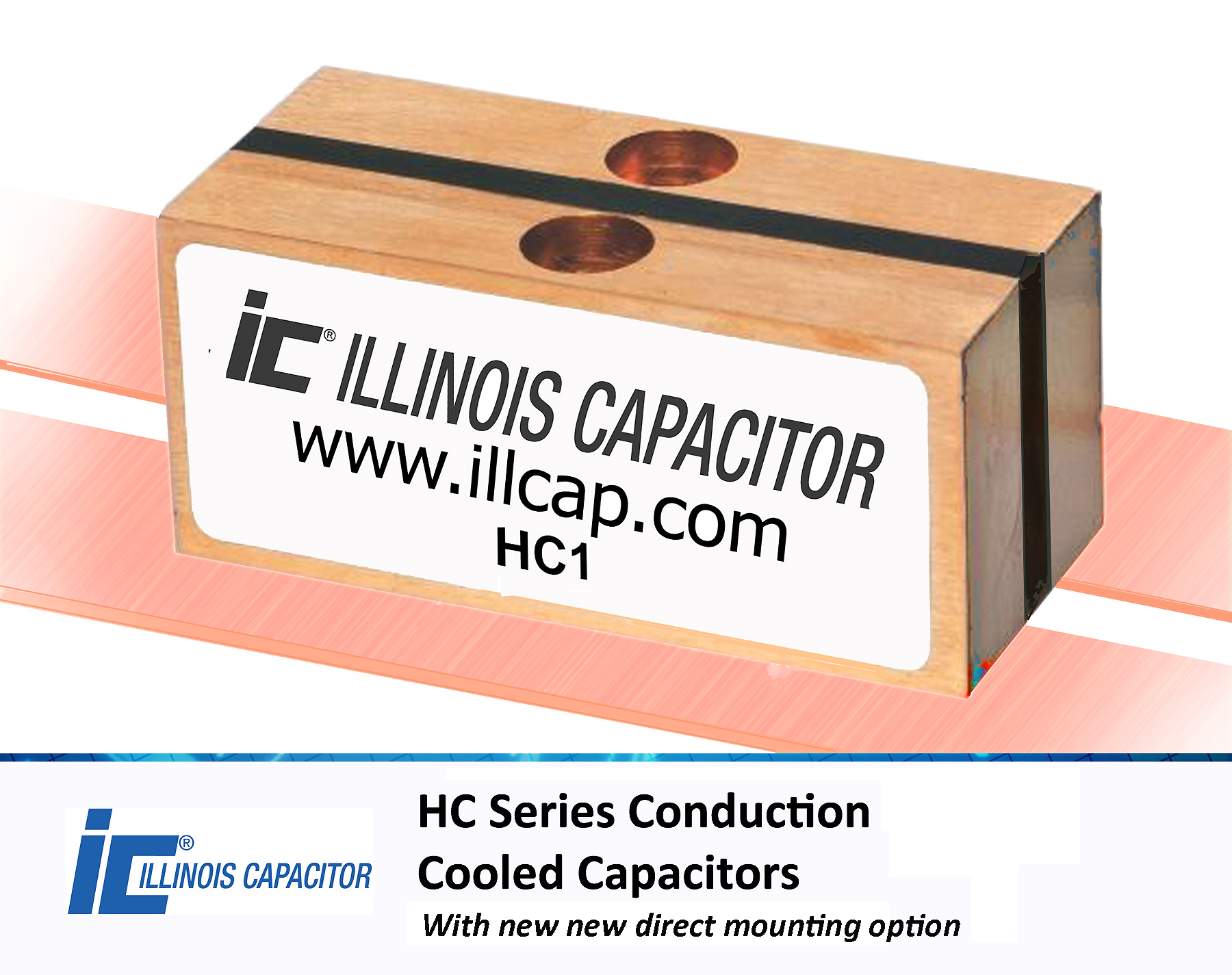 Conduction-Cooled Capacitors Include Direct Mounting Options