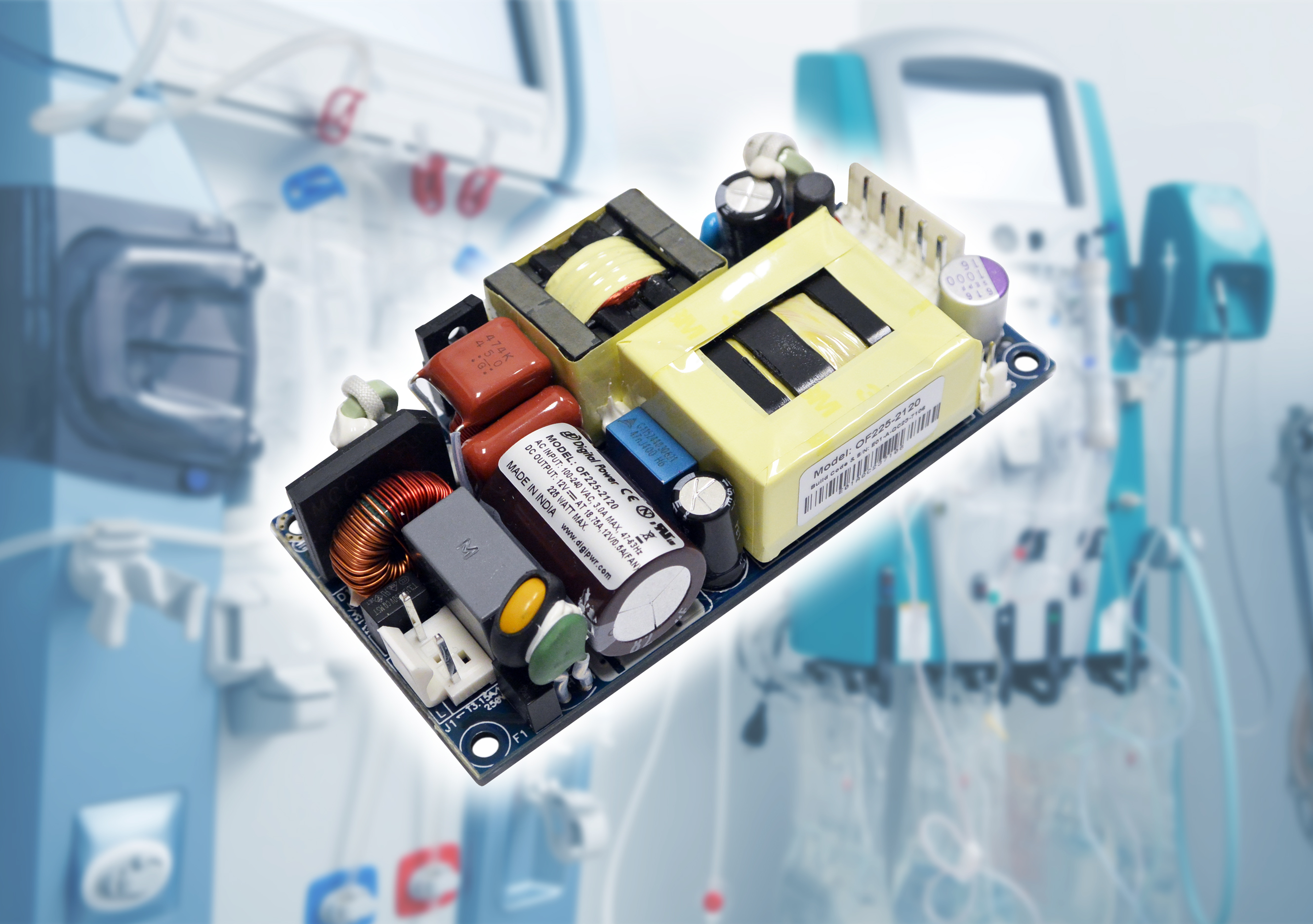 Medical Power Supplies Include Output Power up to 550W