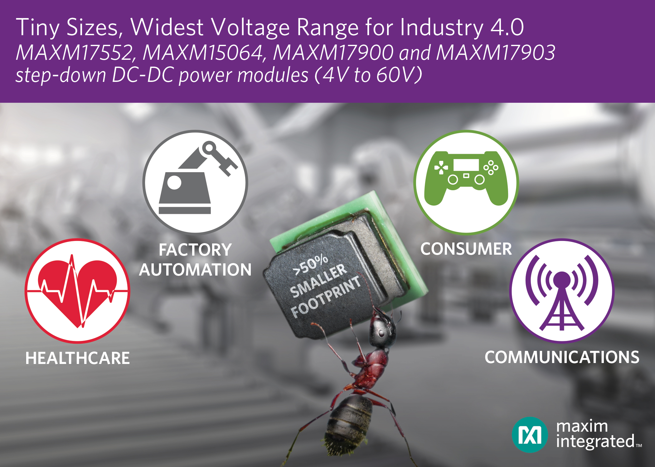 Ultra-Small DC-DC Power Modules Provide Voltages up to 60V