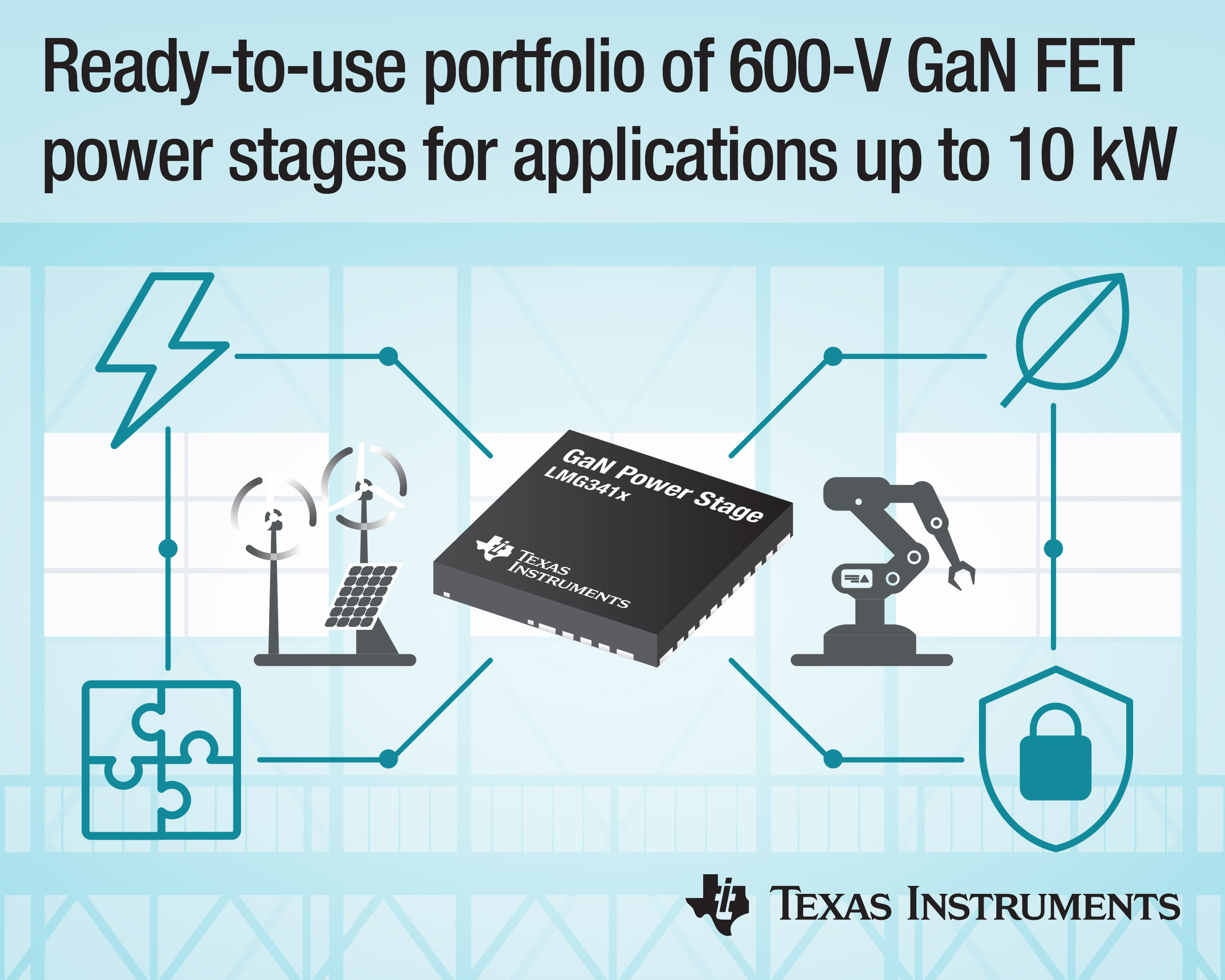600-V GaN FET Supports Applications up to 10 kW